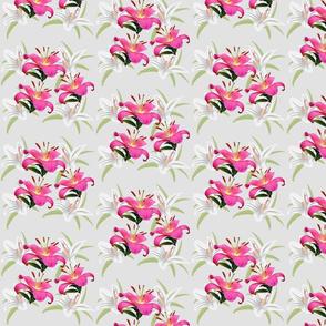 Lily Sprays - grey, small