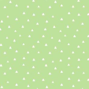Tiny Triangles - Apple Green