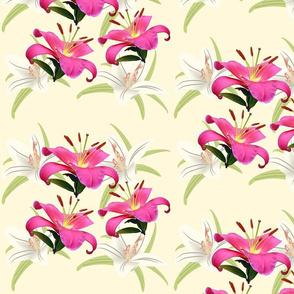 Lily Sprays - large, yellow