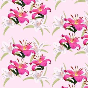 Lily Sprays - large, pink