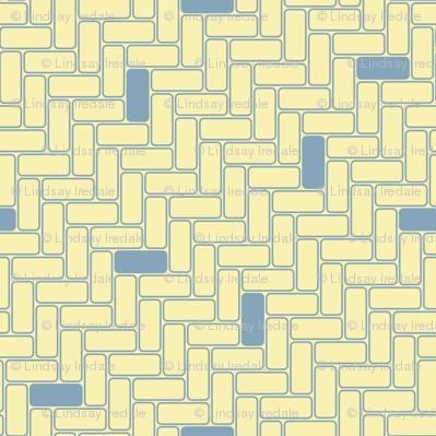 minimal maximal blocks - blue on lemon