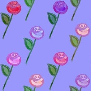 Rose Garden - Periwinkle