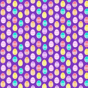 (micro scale) Easter eggs - brights on purple - C19BS