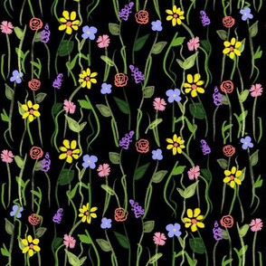 Wildflower Carpet - Black