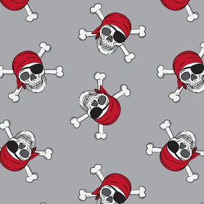 pirates - skull and cross bone - grey 3 - LAD19