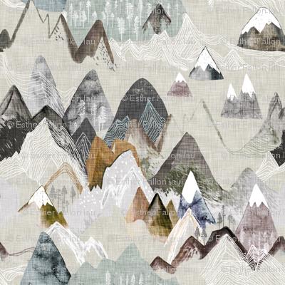 Call of the Mountains (ochre) xxxsml