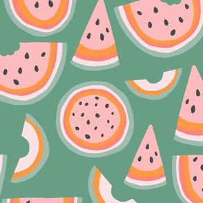 Rainbow Green Melon Jumbo