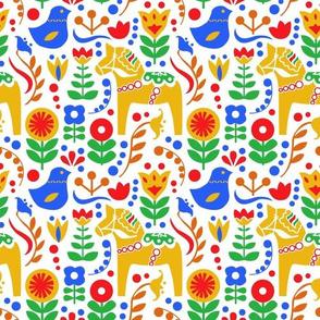 Swedish folk art - primary colors