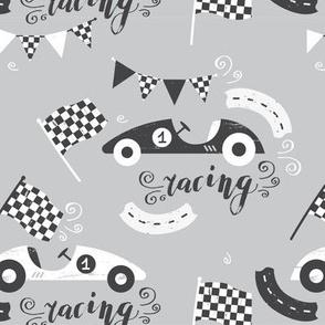 Racing in grey colors