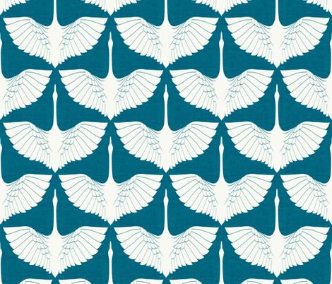Egret of Happiness Tamarindo Lighter fabric by brainsarepretty on Spoonflower - custom fabric