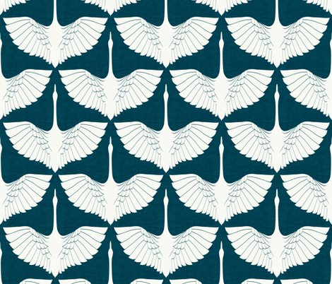 Egret of Happiness Tamarindo Darker fabric by brainsarepretty on Spoonflower - custom fabric
