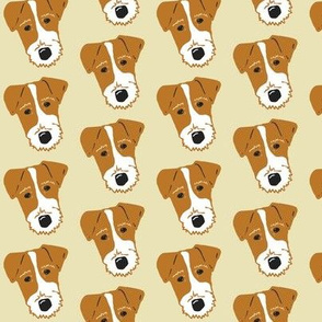 Wire Fox Terrier - Browns, Tans, Bieges