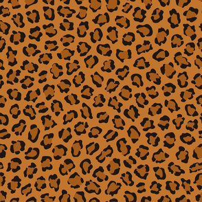 Dark leopard print animal pattern