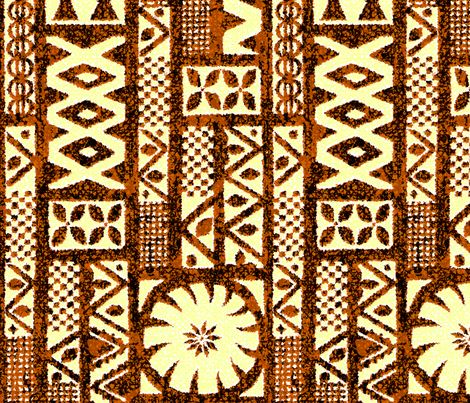 Fijian Tapa 7b fabric by muhlenkott on Spoonflower - custom fabric