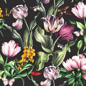 Moody Tulips