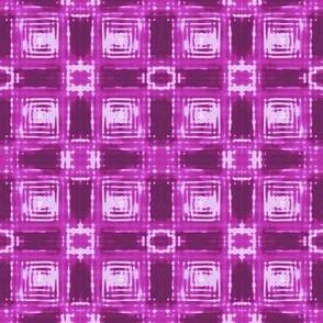 Pink Shibori Plaid small