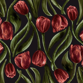 Luxurious Red Tulips