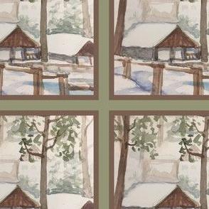 Snowy Tahoe Cabin