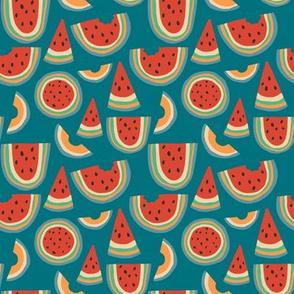 Rainbow Melon Blue Medium