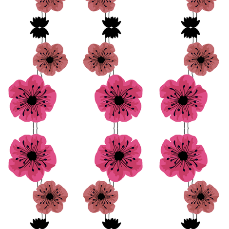 poppyset1 fabric by spunky_eclectic on Spoonflower - custom fabric