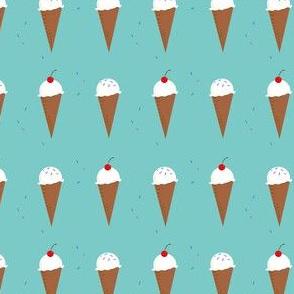 Ice Cream Cone - Festive Aqua