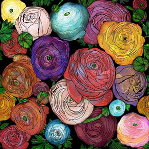 moody ranunculus garden floral