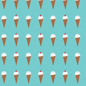 Ice Cream Cone - Festive Aqua in a Row