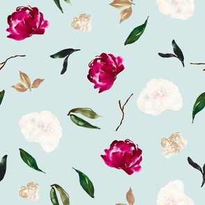 Crimson Magnolia Florals // Mystic