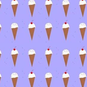 Ice Cream Cone Pattern Lavender2