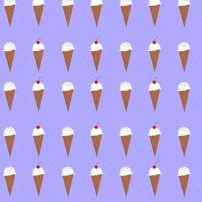 Ice Cream Cone Pattern - Lavender in a Row