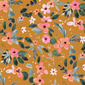 Fawn Floral copper