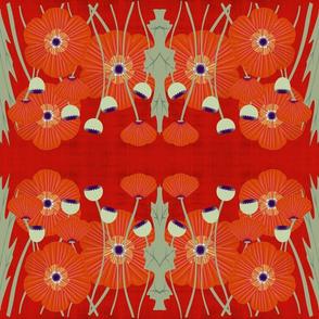 grunge poppy-ruby