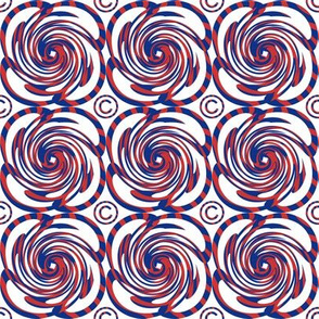Red White Blue Swirls