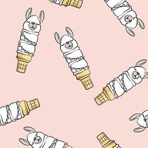 llama ice cream cones - pink tossed - LAD19