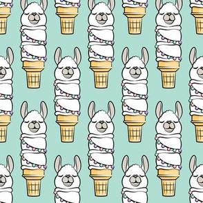 llama ice cream cake cones - stacked aqua - LAD19