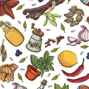 Kitchen Spices Herbs