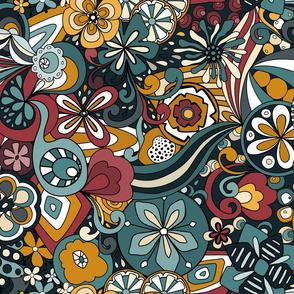 Retro Moody Florals