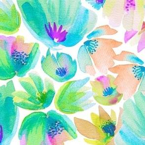 Happy-Go-Lucky Flowers - Green