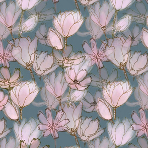 Magnolia Moody Floral  Large Scale