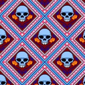 Skulls and Roses Tile 2