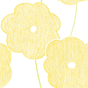 Big yellow crayon flowers