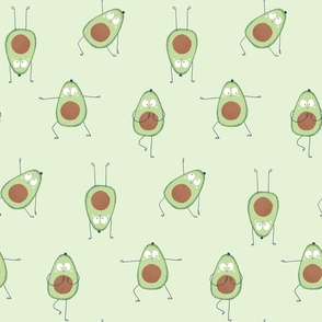 Avocado yoga in green