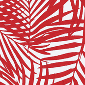 red watercolor fronds
