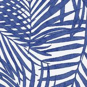 cobalt watercolor fronds