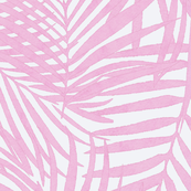 pink watercolor fronds