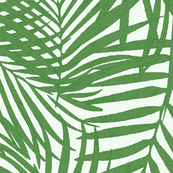 green watercolor fronds