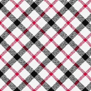 With this Quill Splattered  Plaid on the Diagonal