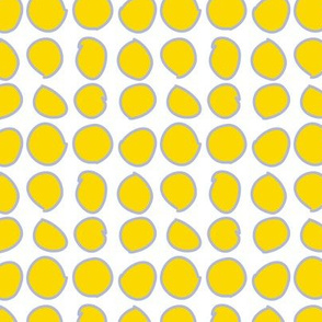 Yellow Circles on White