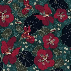 Nasturtiums (moody florals palette)