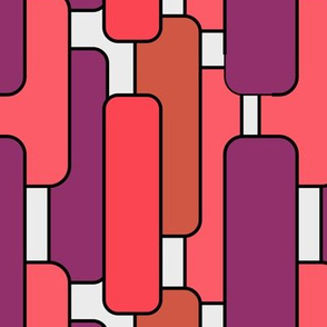 Long Rectangles in Warm Colors